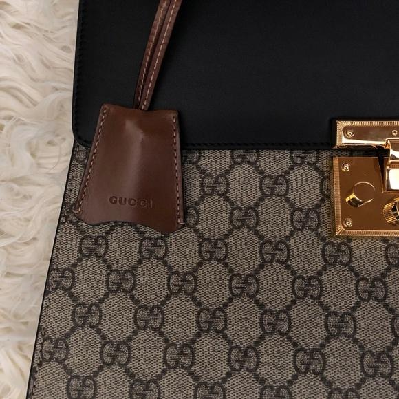 95a8de49 Gucci Bags | Gg Supreme Padlock Medium Top Handle Bag | Poshmark